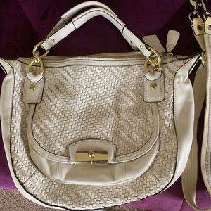 Authentic basket weave coach bag